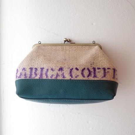 atelier KiU/アトリエ喜雨「コーヒーがま口ポシェット」
