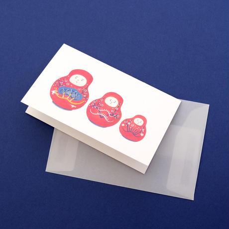赤池佳江子/AKAIKE Kaeko「ひめだるまメッセージカード 封筒付き」