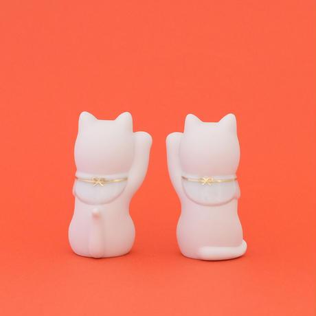 上出長右衛門窯/KUTANI CHOEMON「二寸ちょうえもん招猫 金白」