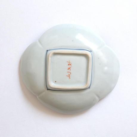 工房あめつち/Kobo Ametsuchi「色絵 鳥絵木瓜小皿」