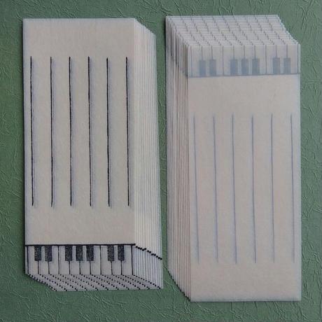 石川まゆみ/ISHIKAWA Mayumi「一筆箋 ピアノ(10枚入)」