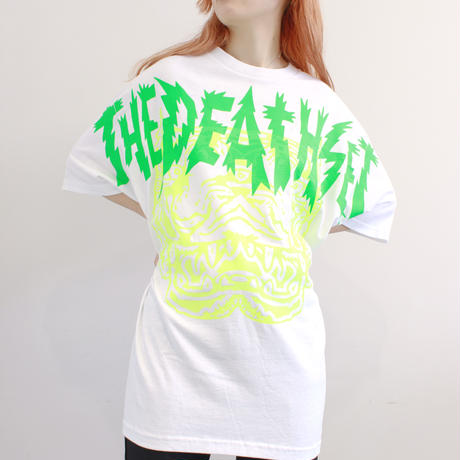 THE DEATH SET タイガー Tシャツ | Anoraks Design Market【WHITE】 *『How To Tune a Parrot』発売記念受注商品  NIW153TW