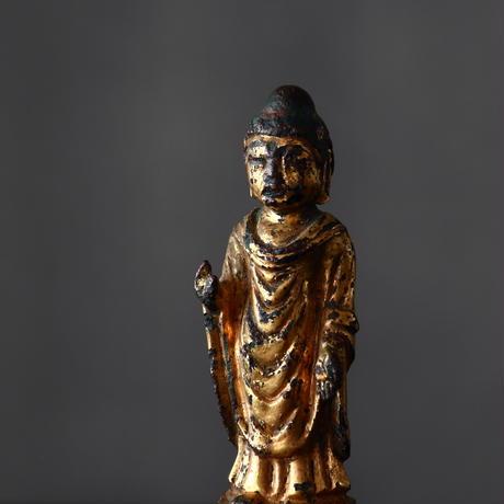 新羅仏 金銅如来立像