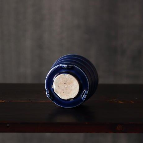 瑠璃九谷竹節文香炉