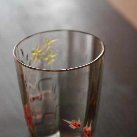 エミール・ガレ エナメル彩リキュールグラス