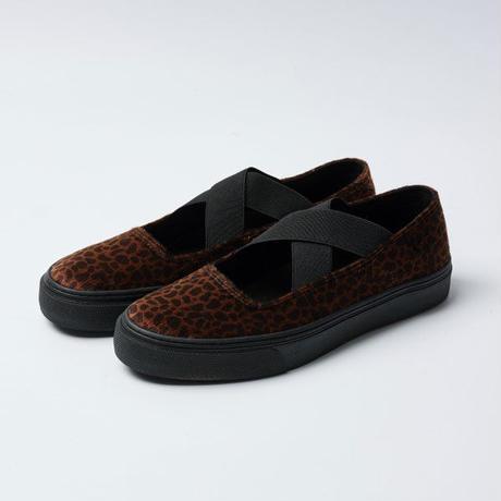 TAKUMA IWASAKI x SLACK FOOTWEAR  PAREN (LEOPARD FUR/BLACK FUR)