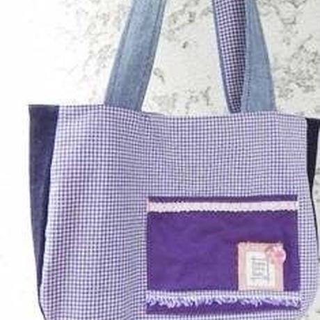【hana.sora.kaze】ギンガムチェックのバッグ L15-0189