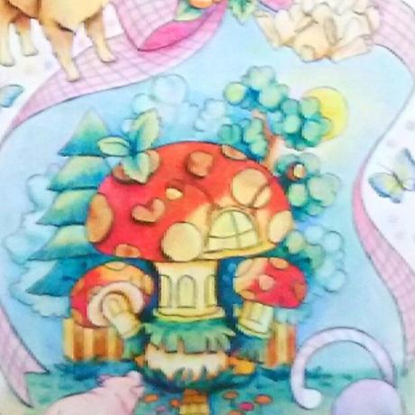 【PoPun.P】 ポストカード てんとう虫の家