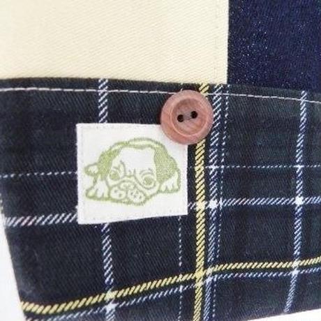 【hana.sora.kaze】ちっちゃなバッグ いぬデニム L15-0149