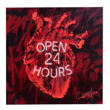OPEN 24 HOURS  -RED-