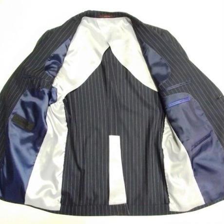 イタリアンクラシコ 新品未使用 ADMIX アトリエサブ ストライプ シングル2B 3ピーススーツ サイズ:AB4(ブルーネイビー)