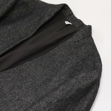 FIRMUM シェットランドウール & リネン交織 ブロークンツイル ノーカラージャケット A8-FR222JK