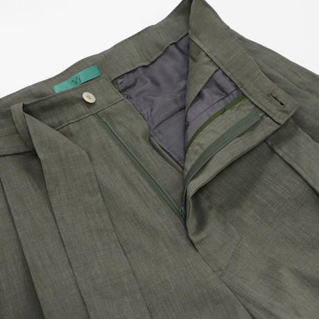 ohta green wide pants pt-12G