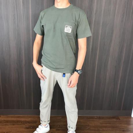 OVERLANDロゴプリント・ポケットTシャツ