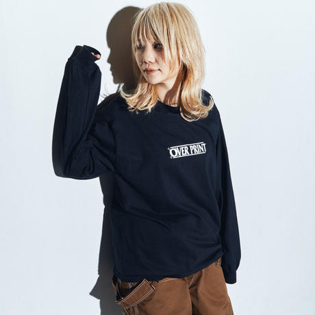 WANTED LS Tee *ONE PIECE *with古塔つみ  (black)