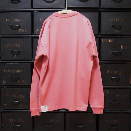 COLLEGE Heavy oz LS Tee(coral pink)