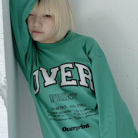 COLLEGE Heavy oz LS Tee(green)