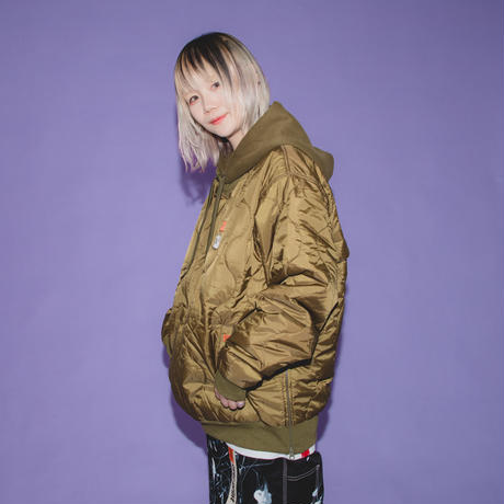 QUILT Hoodie  *UNIVERSAL OVERALL (olive)