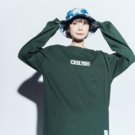 WANTED LS Tee *ONE PIECE *with古塔つみ  (dark green)