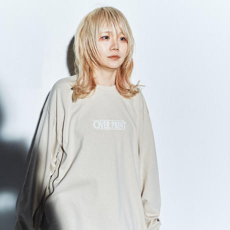WANTED LS Tee *ONE PIECE *with古塔つみ  (sand)