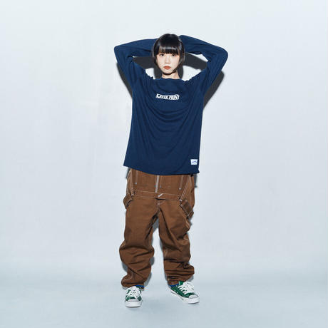 WANTED LS Tee *ONE PIECE *with古塔つみ  (navy)