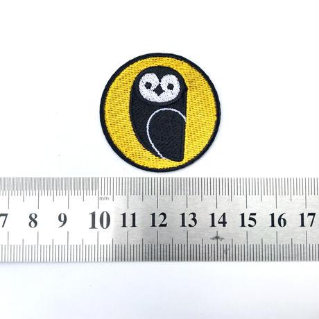 OWL Patch/OWLオリジナル刺繍ワッペン(イエロー)