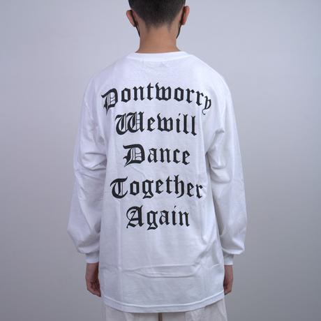 【TONGPOO CLOTHING】DONT WORRY L/S TEE  - WHITE(TNP-14LT-WH)
