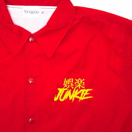 【Tongpoo】GORAKU JUNKIE COACH JACKET  - RED(TNP-13JK-RD)