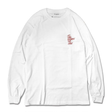 【CHARITY ITEM】NO WALL L/S TEE RED