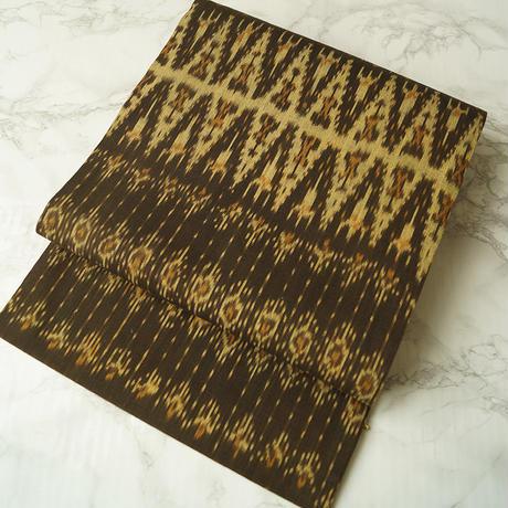 【なごや帯】  手織りイカット木綿なごや帯