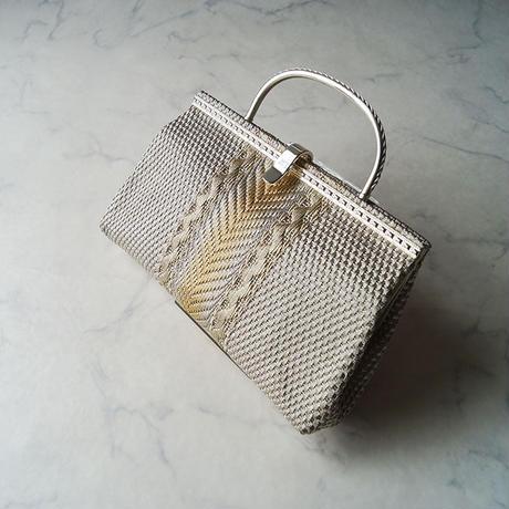 【バッグ】シルバーカラー×ゴールドカラー №211012