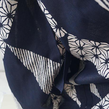 【浴衣】濃紺色 三角文様柄 浴衣