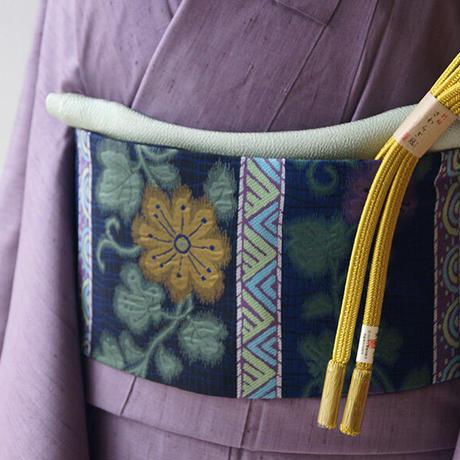 【なごや帯】花とラインの横段なごや帯