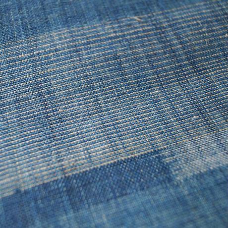 【夏なごや帯】藍絣文 八重山上布 なごや帯