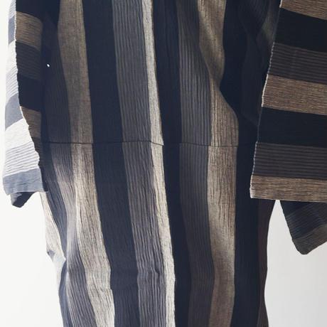【men's浴衣】縮地 三色縞文 仕立て上がり 浴衣