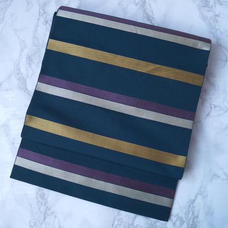【なごや帯】横段と独鈷調の織り柄 八寸なごや帯