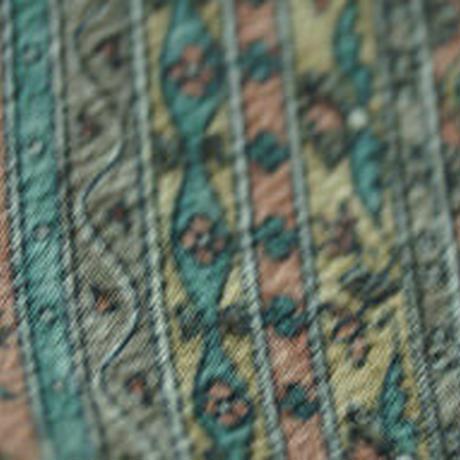 【袷】斜め縞 さらさ布柄 小紋