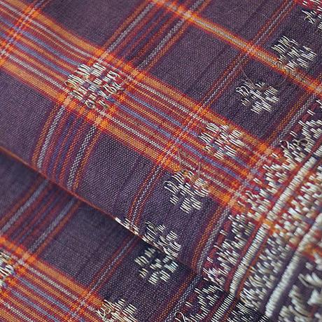 【なごや帯】インドネシア 金モール紋織 開きなごや帯