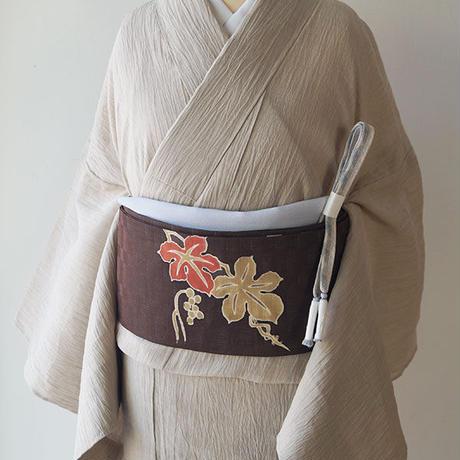 【夏なごや帯】竺仙製 葡萄文 麻なごや帯