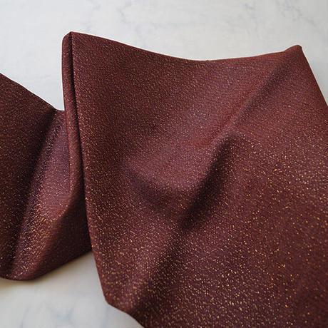 お取り置き中・【なごや帯】海老茶色 三角とドット柄 なごや帯