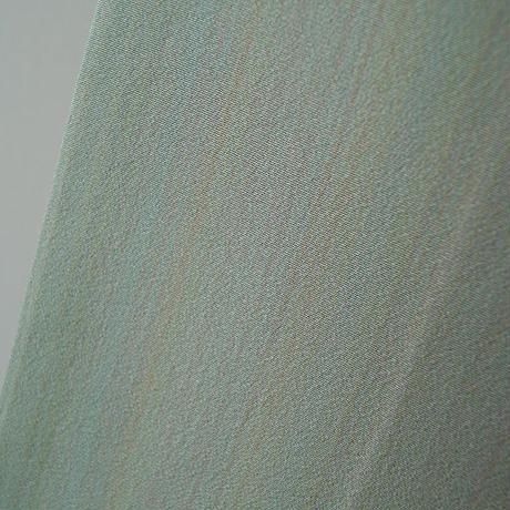 ☆【袷】 トールサイズ  薄抹茶色 無地系縞暈し小紋 5k65