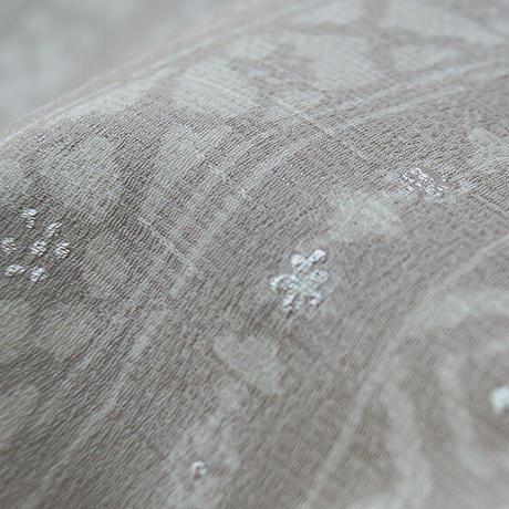 【なごや帯】白鼠色 様々な柄の横段なごや帯