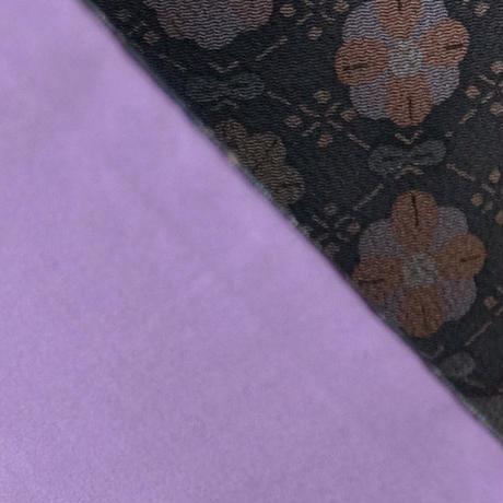 【袷】灰色系古典柄小紋 5k4
