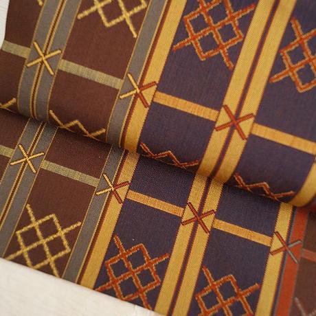 格子織文なごや帯