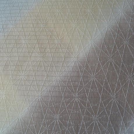 【帯揚げ】アースカラー暈かし 幾何学地文 変わり絽縮緬 帯揚げ №210420g