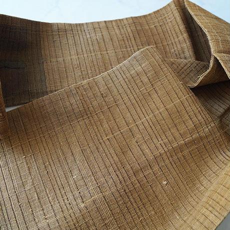 【夏なごや帯】駱駝色 四角抽象文 夏なごや帯
