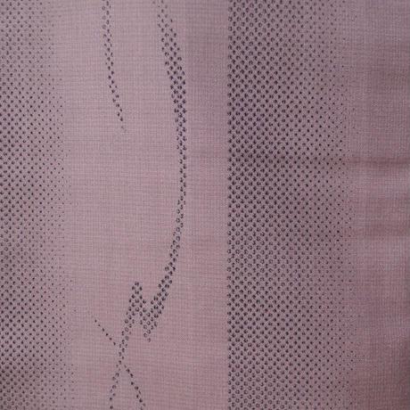 【袷】モーヴトーン紅藤色の紬