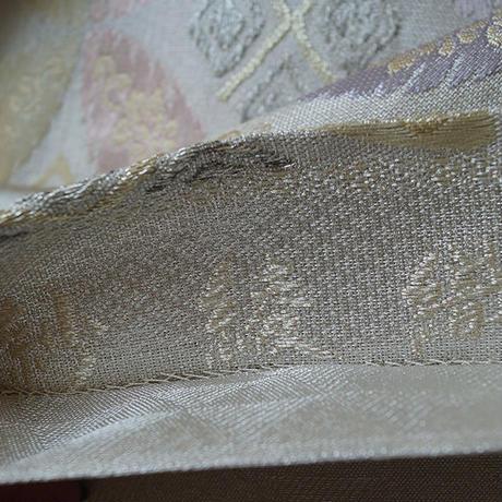 【夏・ふくろ帯】七宝繋ぎ文 紗ふくろ帯