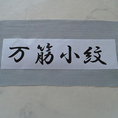 【夏・絽】灰水色地 万筋江戸小紋絽