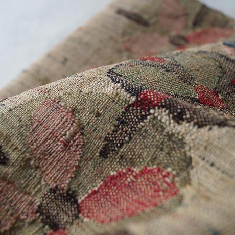 【なごや帯】榛色 丸抽象文 八寸なごや帯